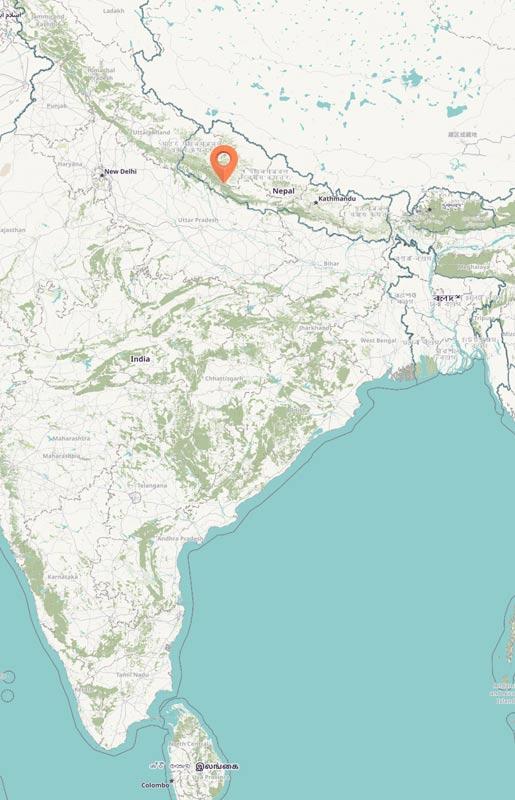Map - Bardia, Nepal