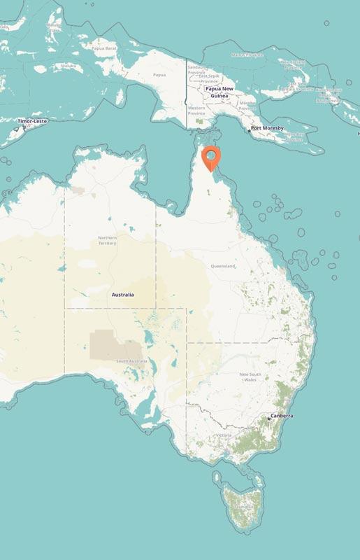Map - Iron Range, Australia