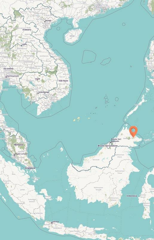 Map - Kinabatangan River, Sabah