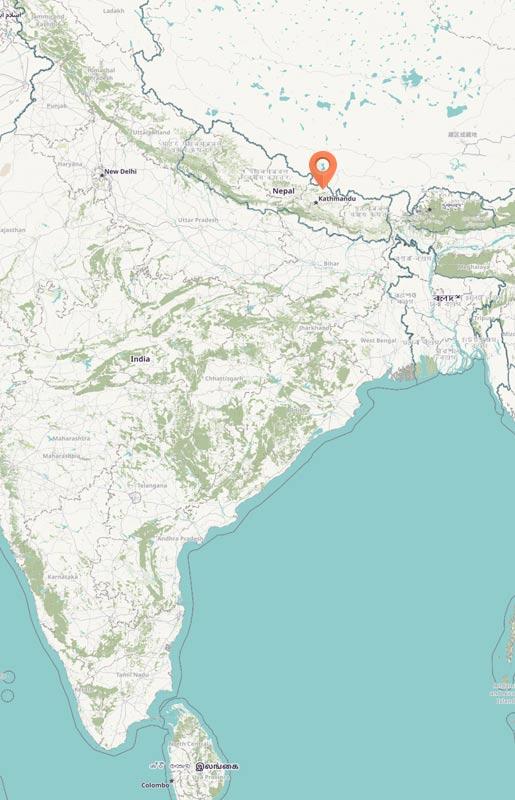 Map - Langtang region, Nepal