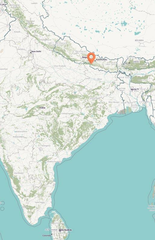 Map - Chitwan, Nepal